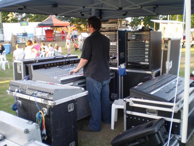 Apex Santa Fair Sound & Lighting Control