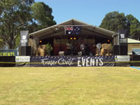 Australia Day Sea Front Oval Stage